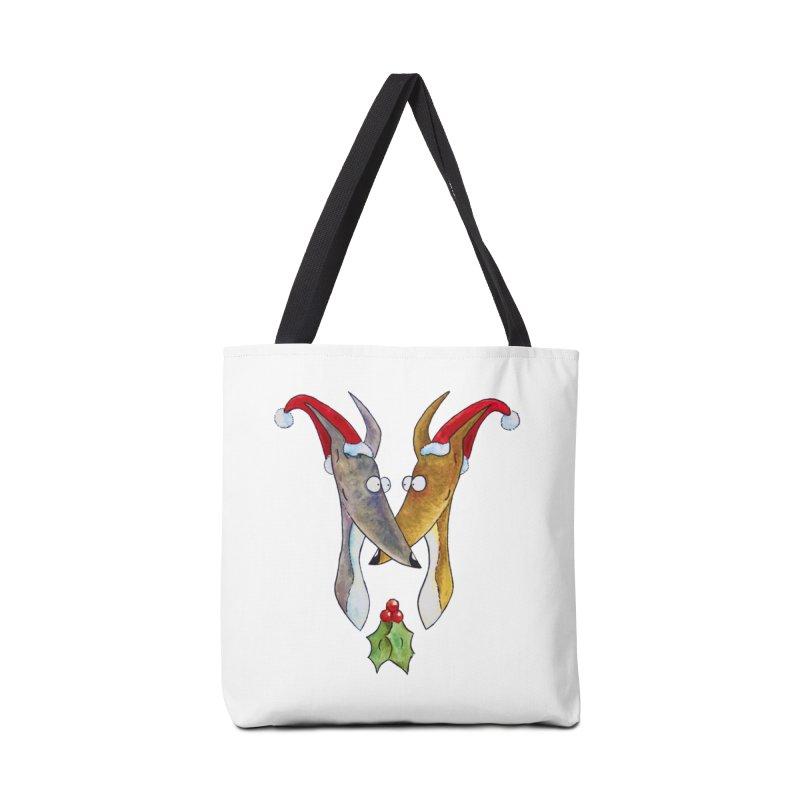 Christmas Love Hounds Accessories Bag by jokertoons's Artist Shop