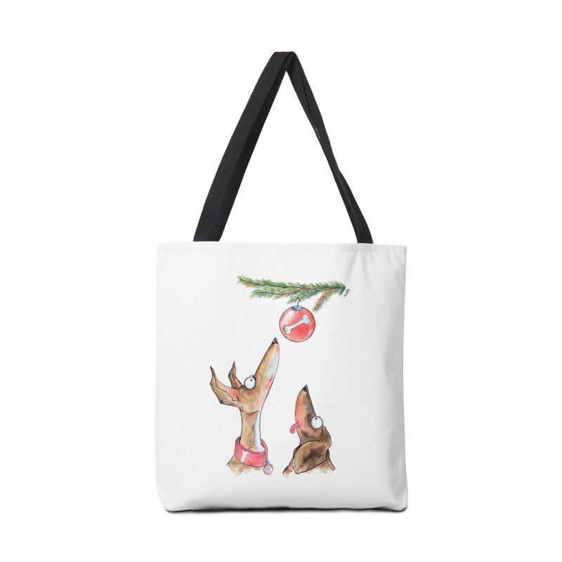 Waiting Christmas Dogs Accessories Bag by jokertoons's Artist Shop