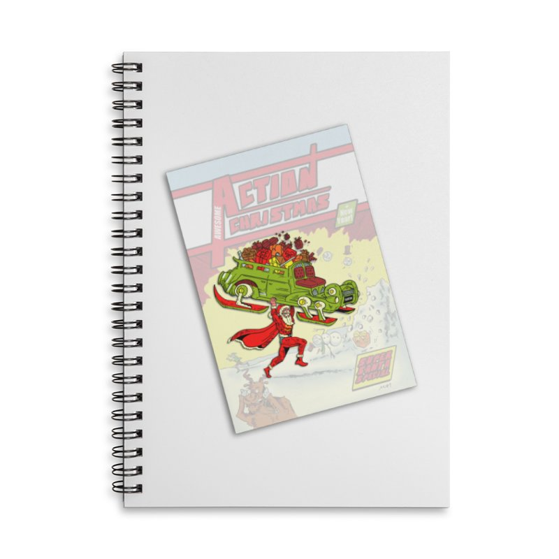 Action Christmas -  Super Mr Santa! Accessories Notebook by jokertoons's Artist Shop