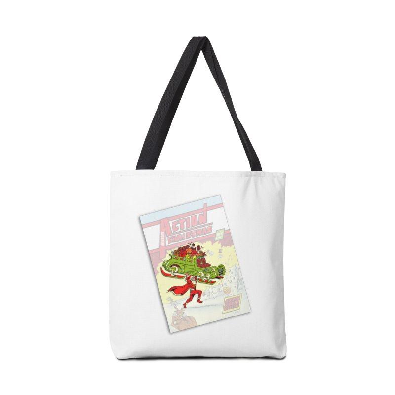 Action Christmas -  Super Mr Santa! Accessories Bag by jokertoons's Artist Shop