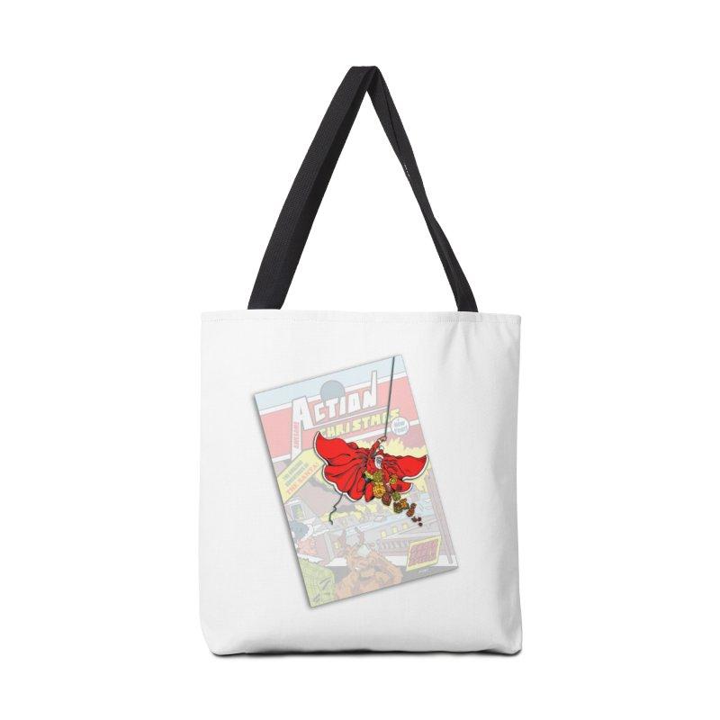 Action Christmas - Sky Santa Pop! Accessories Bag by jokertoons's Artist Shop