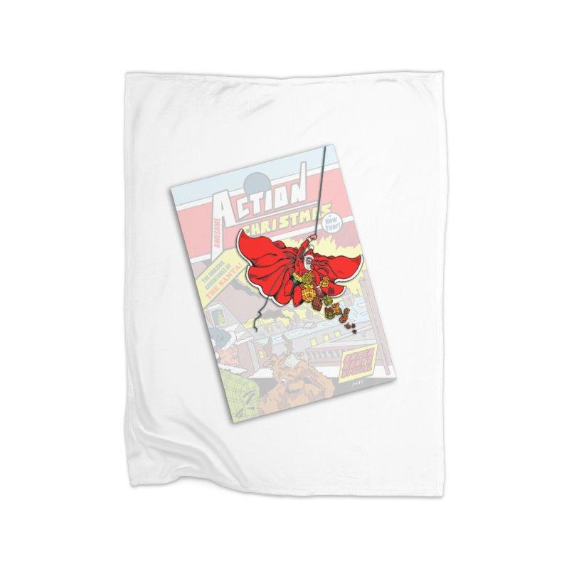 Action Christmas - Sky Santa Pop! Home Blanket by jokertoons's Artist Shop