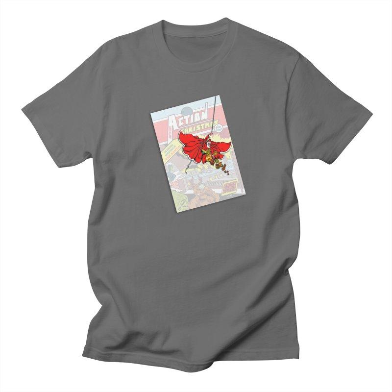 Action Christmas - Sky Santa Pop! Women's T-Shirt by jokertoons's Artist Shop
