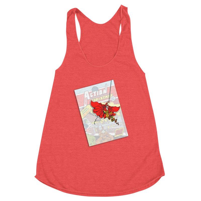 Action Christmas - Sky Santa Pop! Women's Tank by jokertoons's Artist Shop