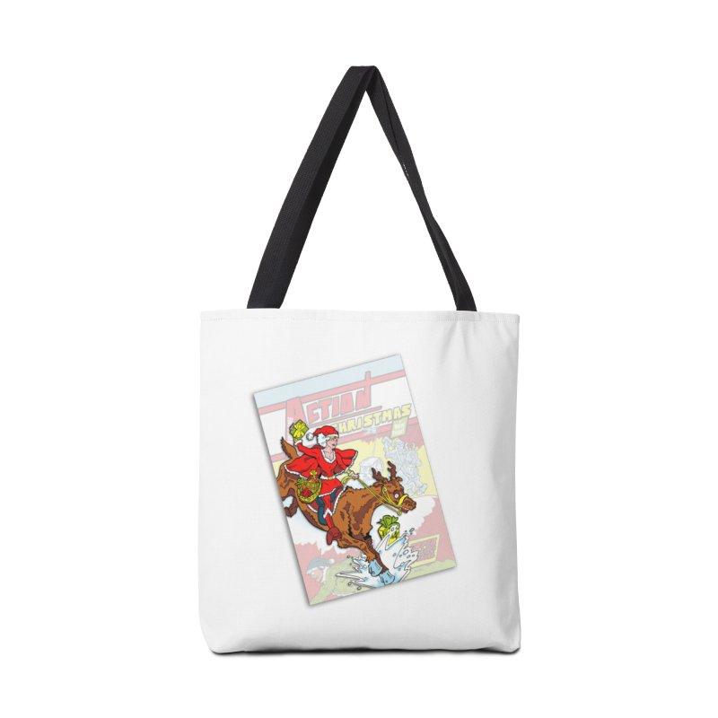 Action Christmas - Super Mrs Santa Pop! Accessories Bag by jokertoons's Artist Shop