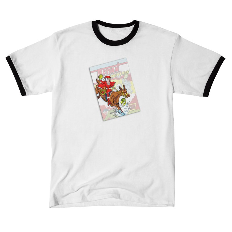 Action Christmas - Super Mrs Santa Pop! Men's T-Shirt by jokertoons's Artist Shop