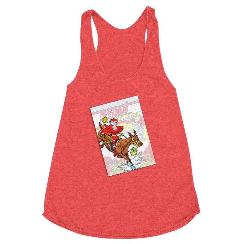Action Christmas - Super Mrs Santa Pop! Women's Tank by jokertoons's Artist Shop