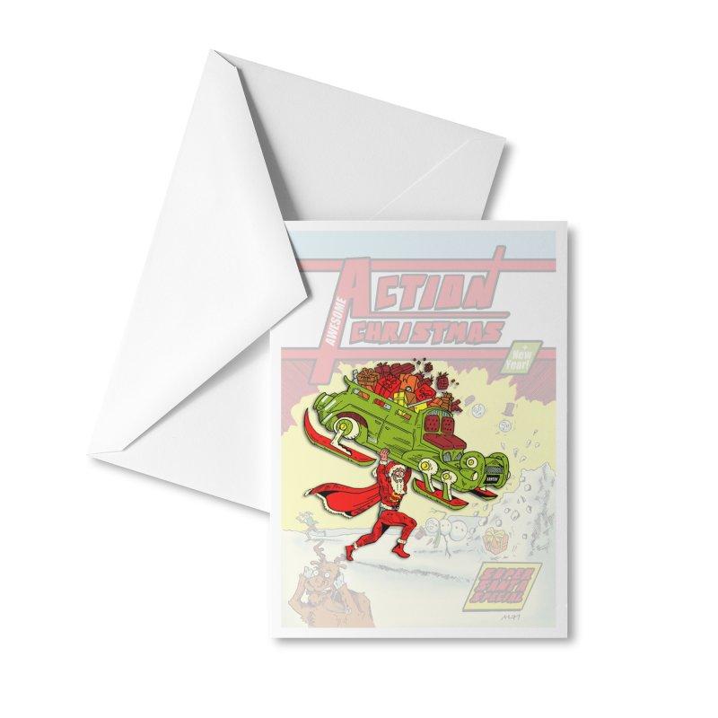 Action Christmas Super Santa! Accessories Greeting Card by jokertoons's Artist Shop