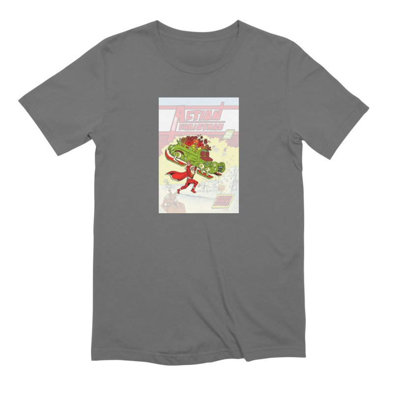 Action Christmas Super Santa! Men's T-Shirt by jokertoons's Artist Shop