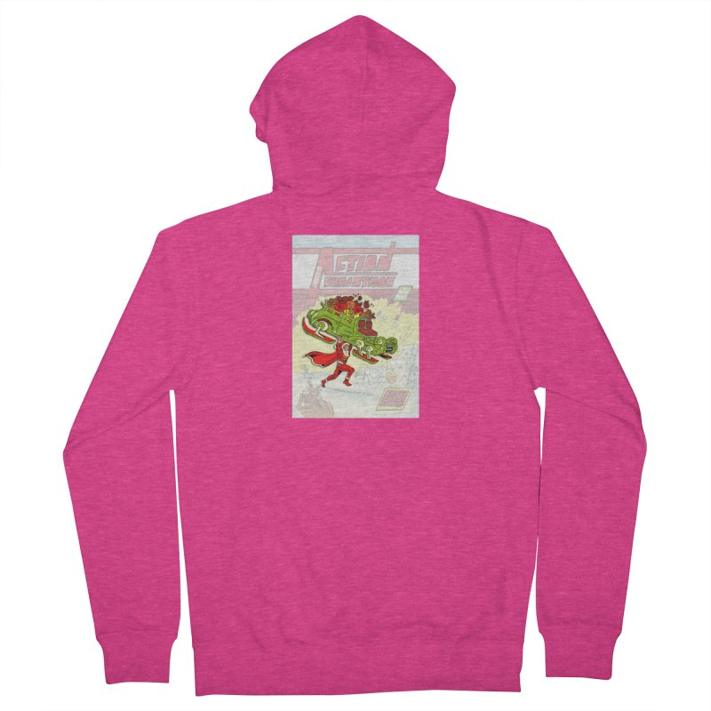 Action Christmas Super Santa! Women's Zip-Up Hoody by jokertoons's Artist Shop