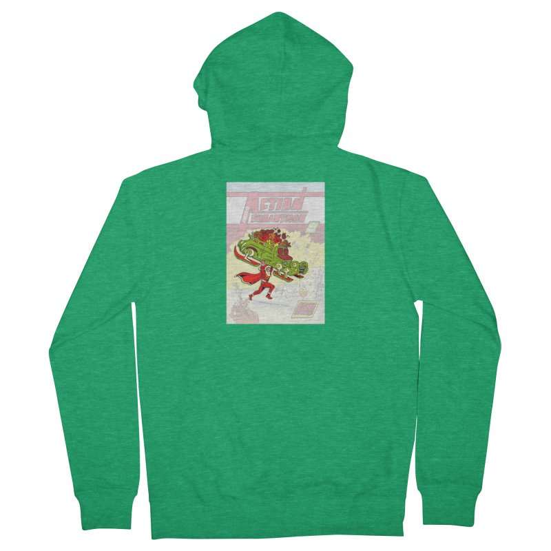 Action Christmas Super Santa! Men's Zip-Up Hoody by jokertoons's Artist Shop