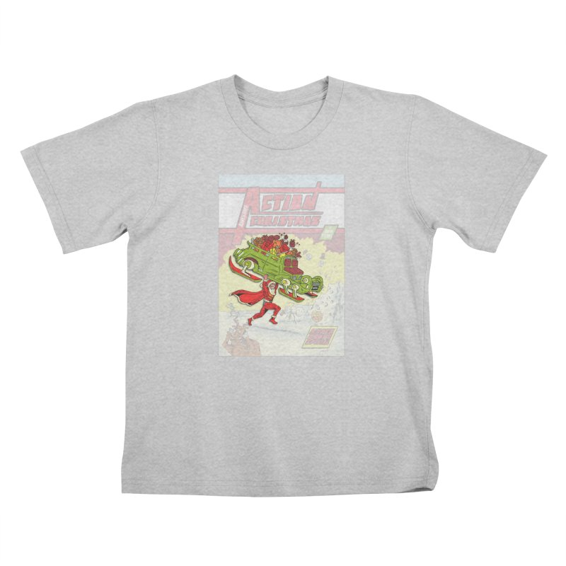 Action Christmas Super Santa! Kids T-Shirt by jokertoons's Artist Shop