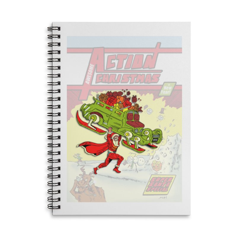 Action Christmas Super Santa! Accessories Notebook by jokertoons's Artist Shop