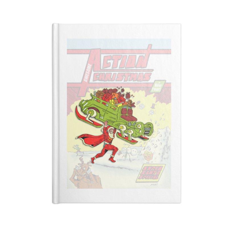 Action Christmas Super Santa! Accessories Notebook by jokertoons's Artist Shop