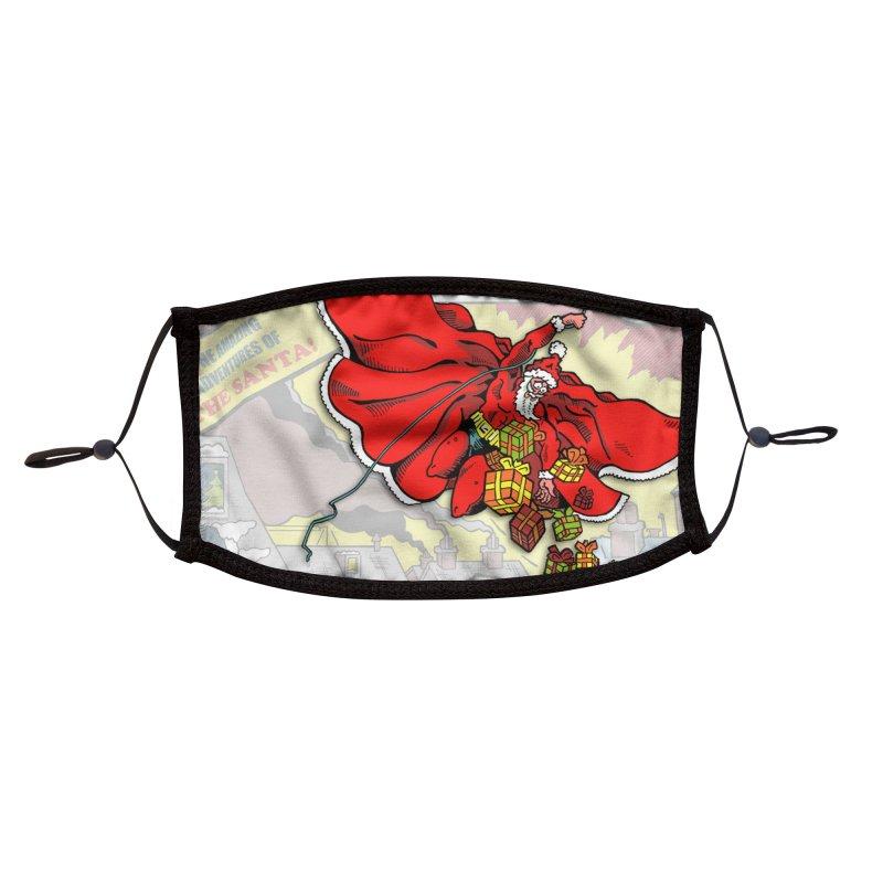 Action Christmas Sky Santa! Accessories Face Mask by jokertoons's Artist Shop