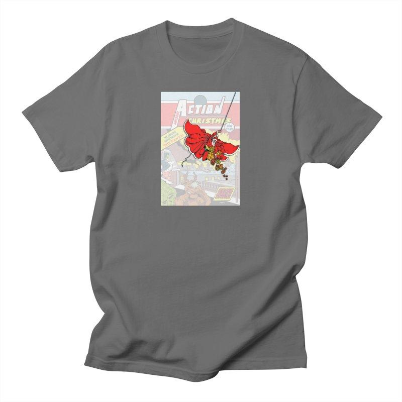 Action Christmas Sky Santa! Men's T-Shirt by jokertoons's Artist Shop