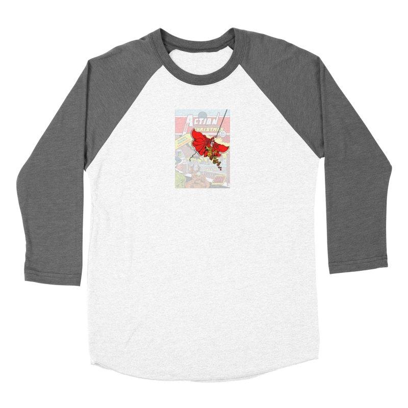 Action Christmas Sky Santa! Women's Longsleeve T-Shirt by jokertoons's Artist Shop