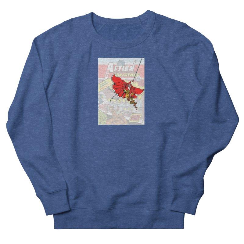 Action Christmas Sky Santa! Men's Sweatshirt by jokertoons's Artist Shop