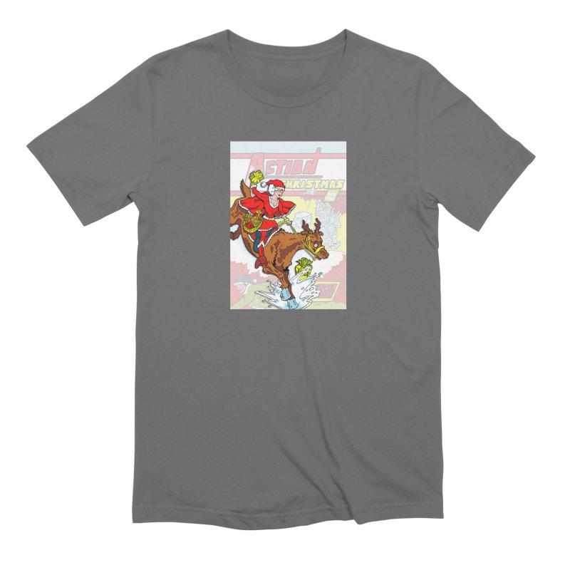 Action Christmas Wonder Santa! Men's T-Shirt by jokertoons's Artist Shop