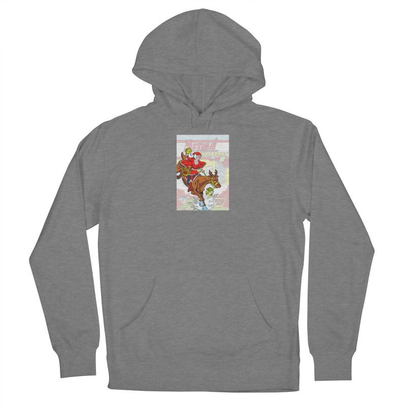 Action Christmas Wonder Santa! Women's Pullover Hoody by jokertoons's Artist Shop