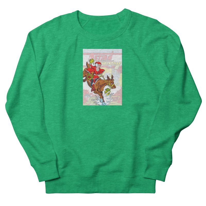 Action Christmas Wonder Santa! Women's Sweatshirt by jokertoons's Artist Shop