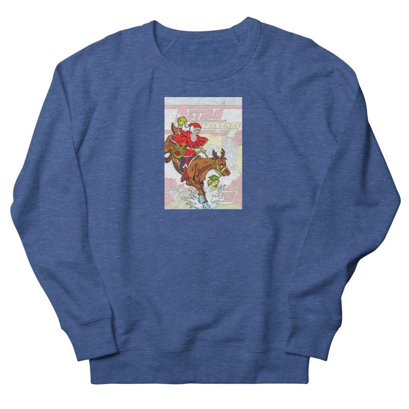 Action Christmas Wonder Santa! Men's Sweatshirt by jokertoons's Artist Shop