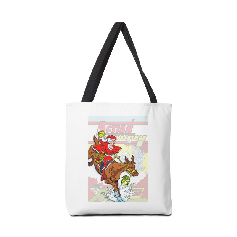 Action Christmas Wonder Santa! Accessories Bag by jokertoons's Artist Shop