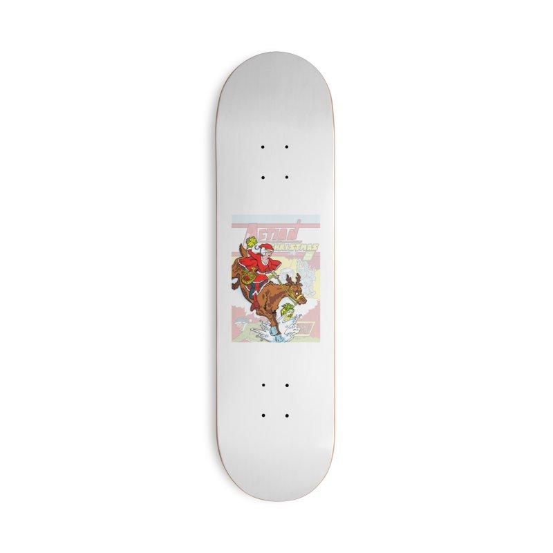 Action Christmas Wonder Santa! Accessories Skateboard by jokertoons's Artist Shop
