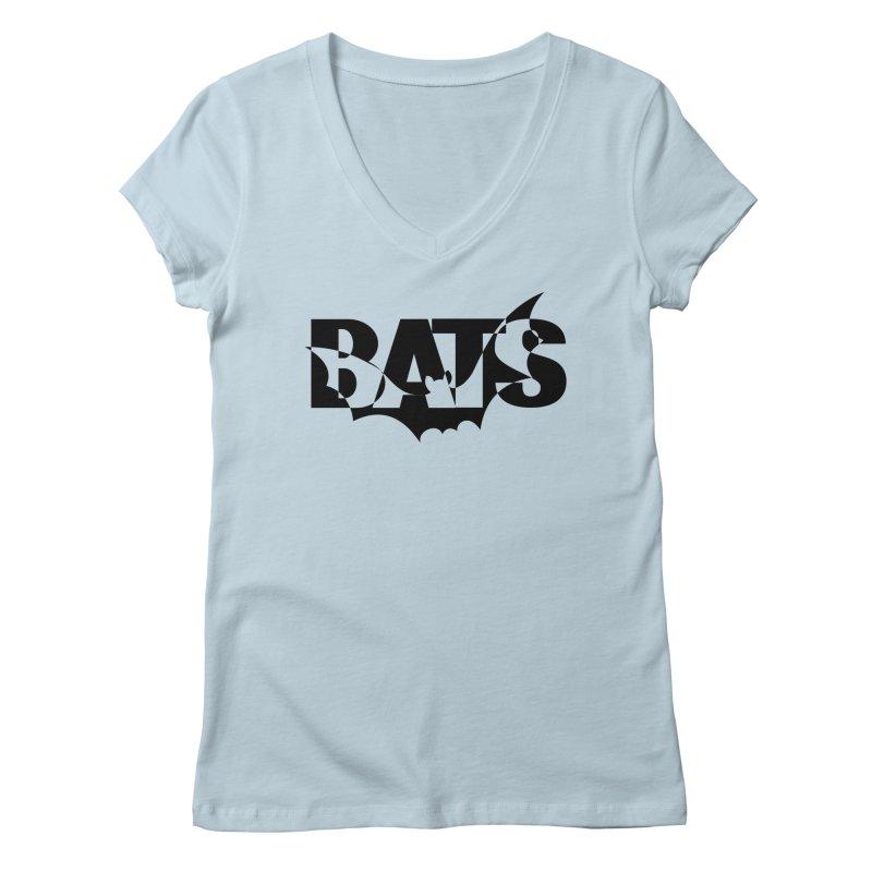 Bats! Women's V-Neck by jokertoons's Artist Shop