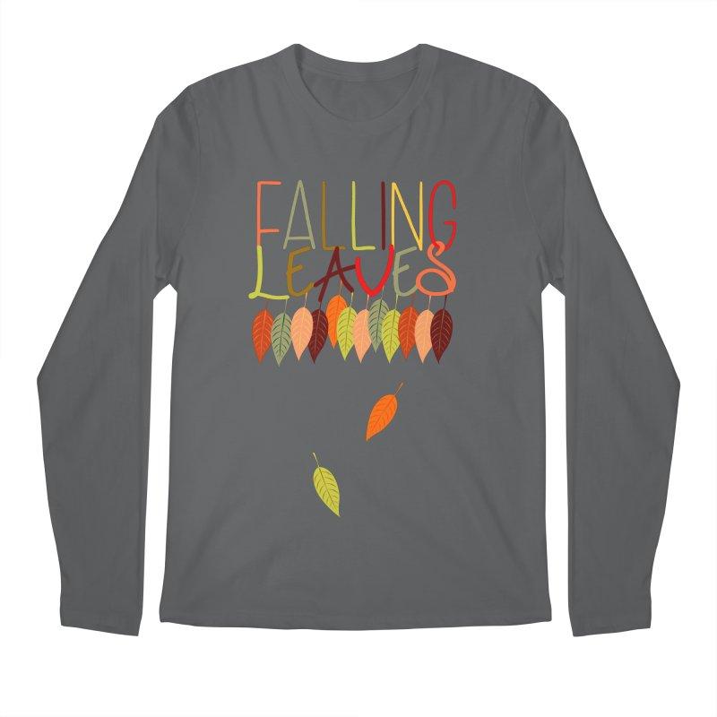 Falling Leaves Men's Longsleeve T-Shirt by jokertoons's Artist Shop