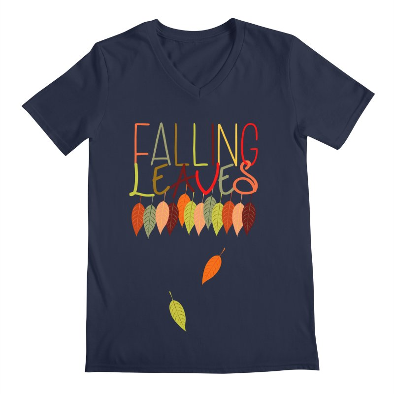 Falling Leaves Men's V-Neck by jokertoons's Artist Shop