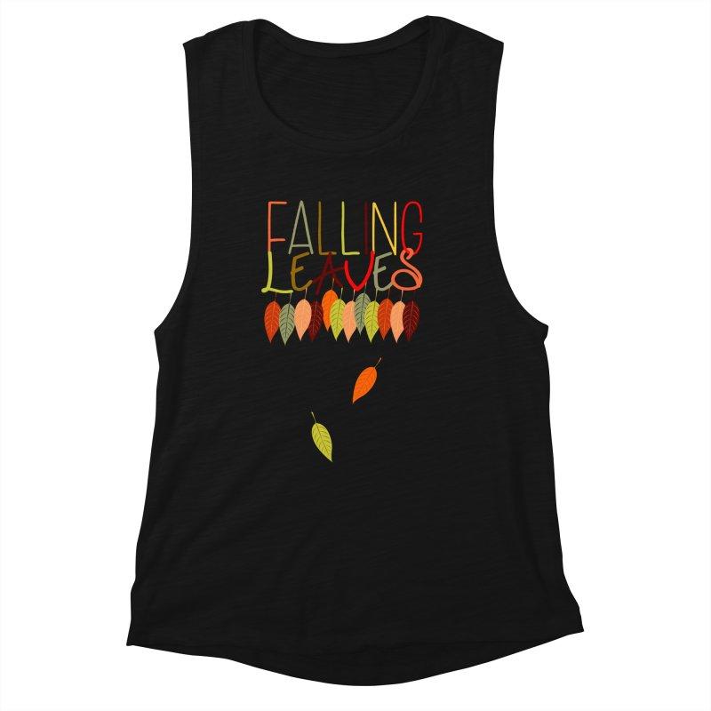 Falling Leaves Women's Tank by jokertoons's Artist Shop