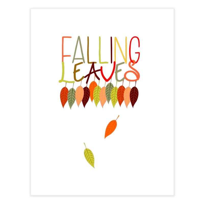 Falling Leaves Home Fine Art Print by jokertoons's Artist Shop