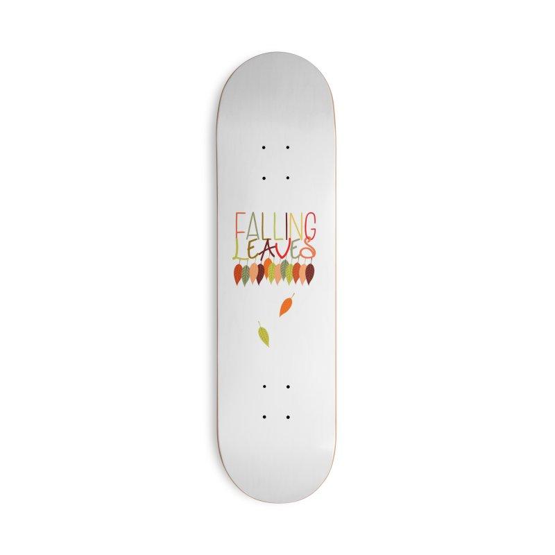 Falling Leaves Accessories Skateboard by jokertoons's Artist Shop
