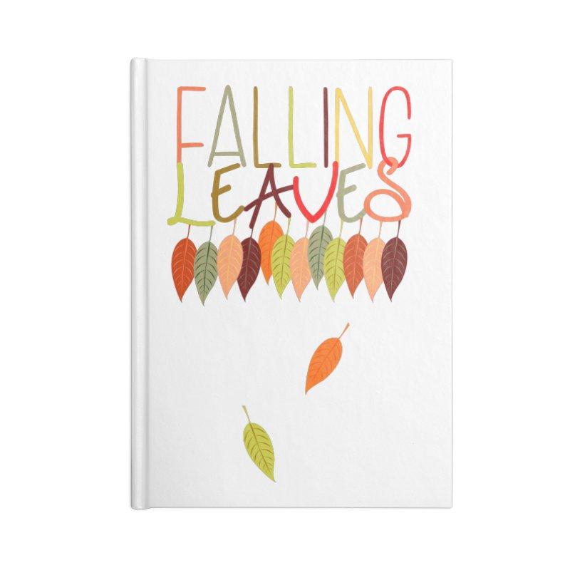 Falling Leaves Accessories Notebook by jokertoons's Artist Shop