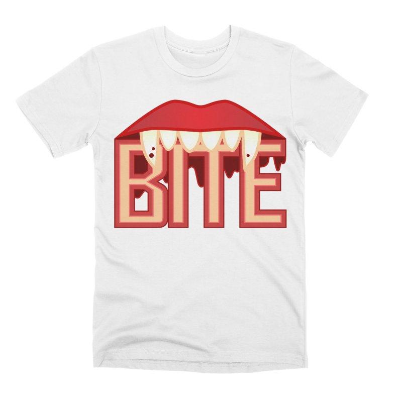 Bite Men's T-Shirt by jokertoons's Artist Shop
