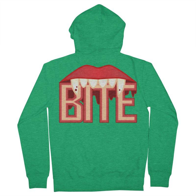 Bite Women's Zip-Up Hoody by jokertoons's Artist Shop