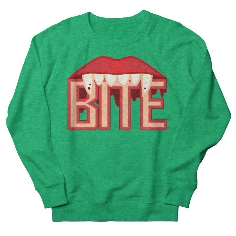 Bite Women's Sweatshirt by jokertoons's Artist Shop