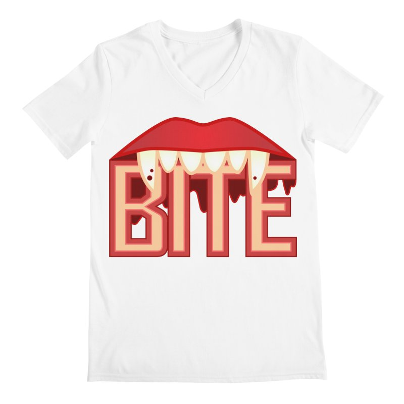 Bite Men's V-Neck by jokertoons's Artist Shop