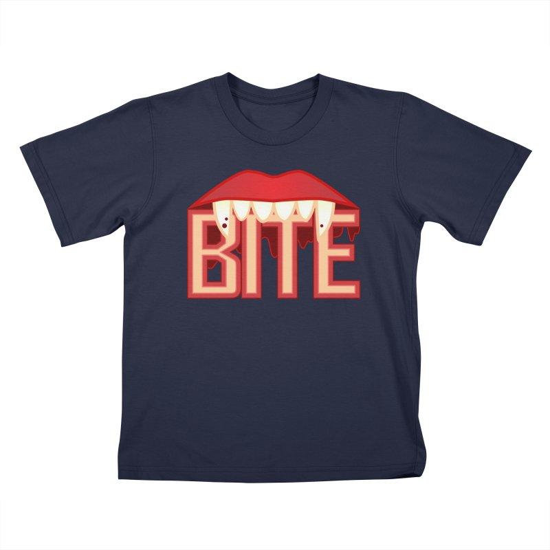 Bite Kids T-Shirt by jokertoons's Artist Shop