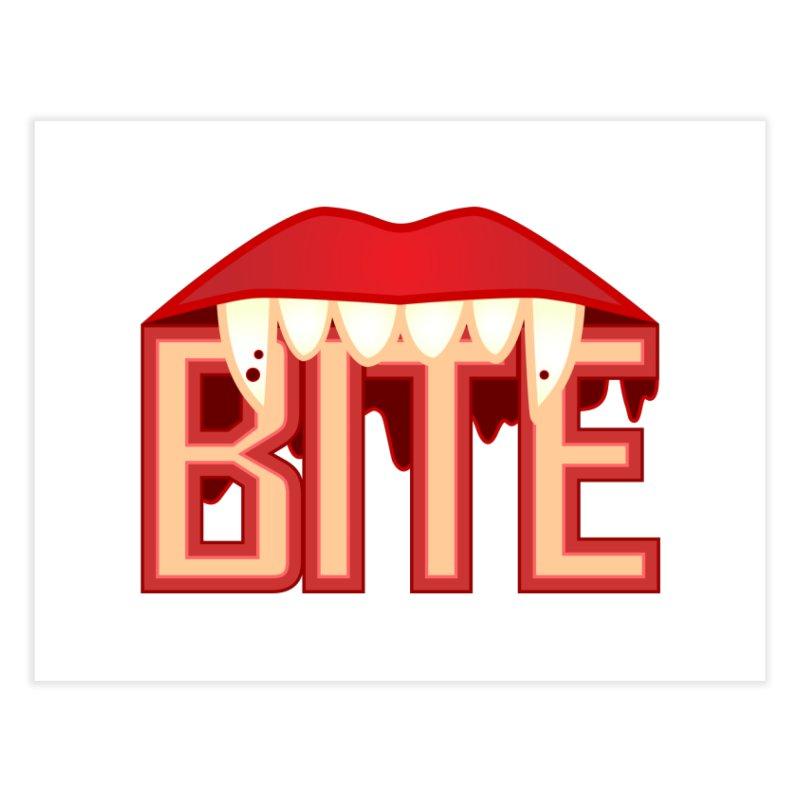 Bite Home Fine Art Print by jokertoons's Artist Shop