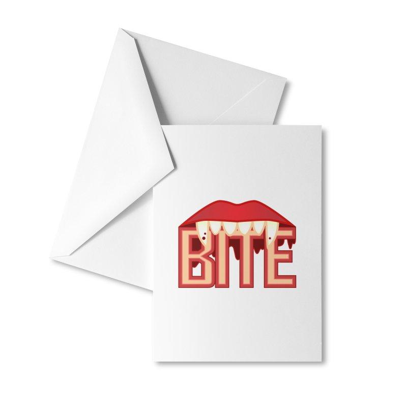 Bite Accessories Greeting Card by jokertoons's Artist Shop