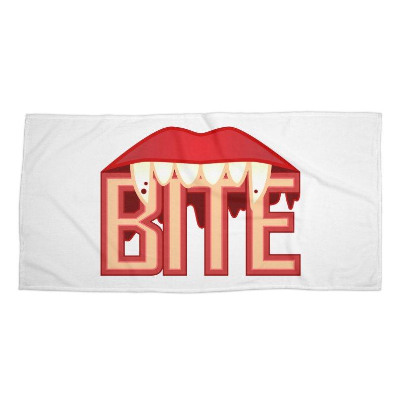 Bite Accessories Beach Towel by jokertoons's Artist Shop