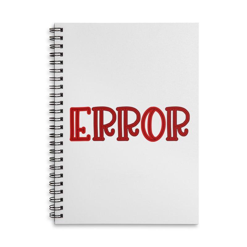 Error Accessories Notebook by jokertoons's Artist Shop