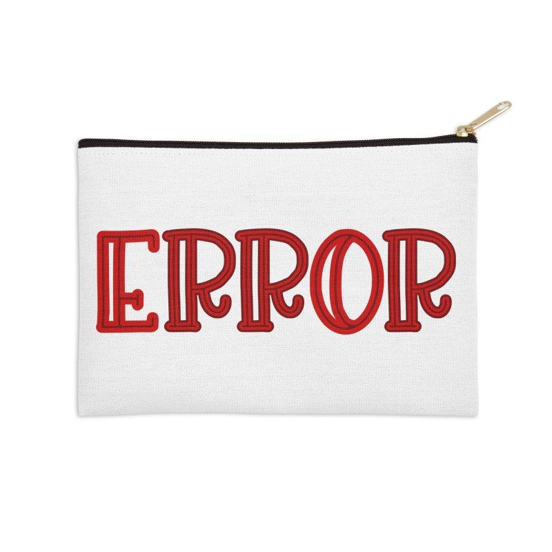 Error Accessories Zip Pouch by jokertoons's Artist Shop