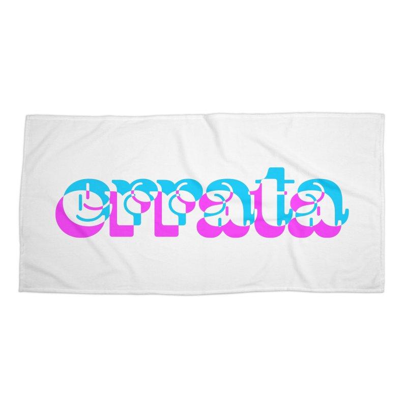 Errata Accessories Beach Towel by jokertoons's Artist Shop