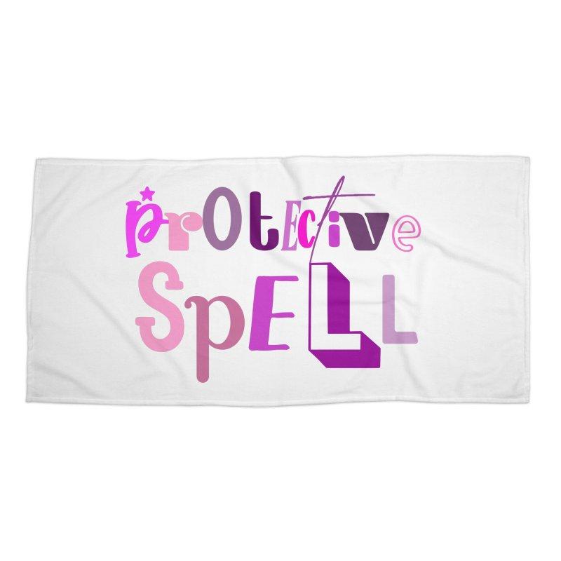 Protective Spell Accessories Beach Towel by jokertoons's Artist Shop