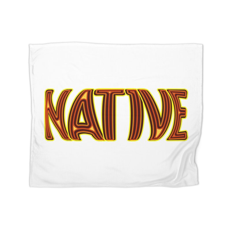 NATIVE Home Blanket by jokertoons's Artist Shop