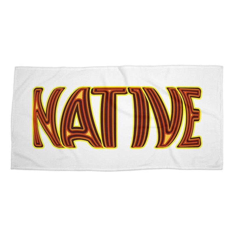 NATIVE Accessories Beach Towel by jokertoons's Artist Shop