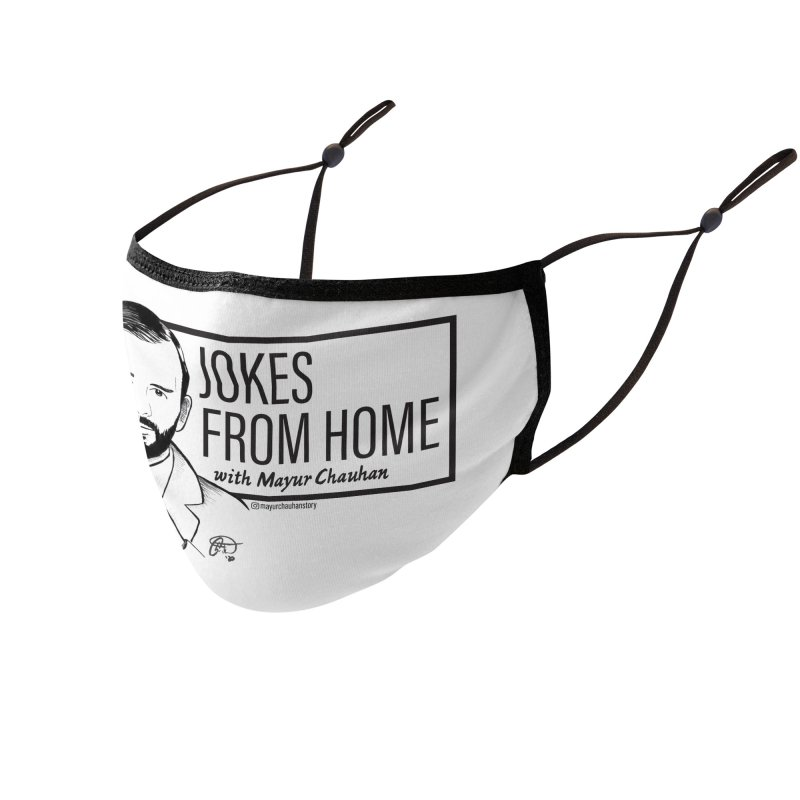 The Jokes From Home With Mayur Chauhan (art) Accessories Face Mask by Jokes From Home        With Mayur Chauhan